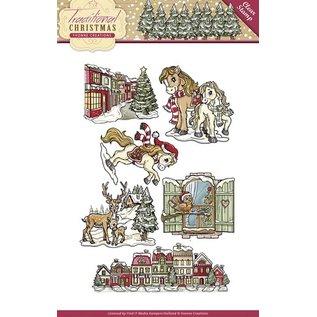 Yvonne Creations Nuovo francobollo trasparente: Natale