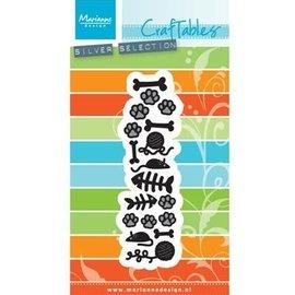 Marianne Design Troquelado y estampado en relieve plantilla: Motivos para el gato y el perro