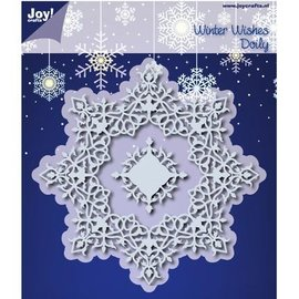 Joy!Crafts / Jeanine´s Art, Hobby Solutions Dies /  10% DISCOUNT Stamping templates: Winter Wishes Doilie - only 1 in stock!
