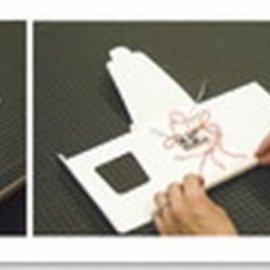 BASTELZUBEHÖR, WERKZEUG UND AUFBEWAHRUNG lámpara de led + 1 formato de tarjeta de LED A6 + sobres