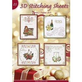 Bücher, Zeitschriften und CD / Magazines A4 libro Stickvorlage para 8 tarjetas