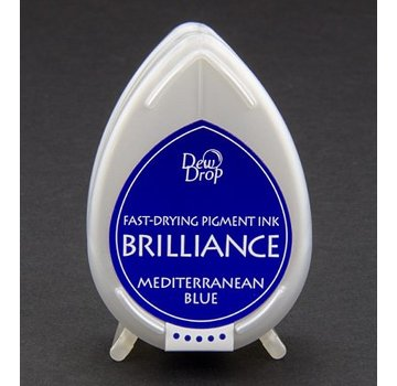 FARBE / STEMPELKISSEN Brilliance Dew Drop, blu del Mediterraneo