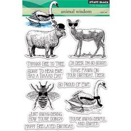 Penny Black timbre transparent: Règne animal