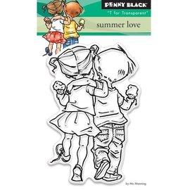 Penny Black tampons transparents: l'amour d'été