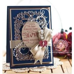 Poinçonnage et gaufrage modèle: Floral frame avec le coeur