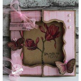 Dutch DooBaDoo Template A4: Finestra Carta Arte Card