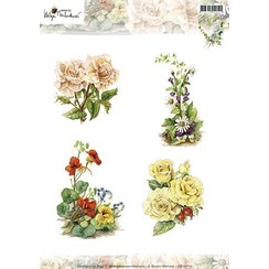 A4 Bilderbogen: Jolies Fleurs