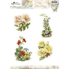 Studio Light A4 Bilderbogen: hübsche Blumen