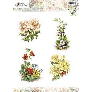 Studio Light A4 Bilderbogen: Mooie Bloemen