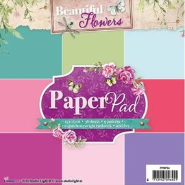 Studio Light pad carta, Beautiful Flowers