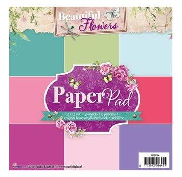 Studio Light Papier Block, Beautiful Flowers