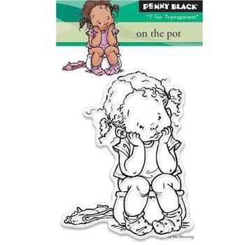 Penny Black stamp Transparent: Sur le pot