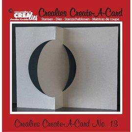 Stempel / Stamp: Transparent Crealies Maak Een Kaart no. 13 voor ponskaart