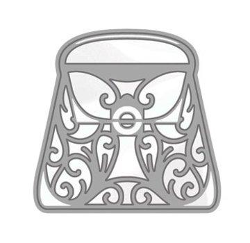 Tonic Studio´s Stansning og prægning skabelon: Rococo Stilfuld håndtaske