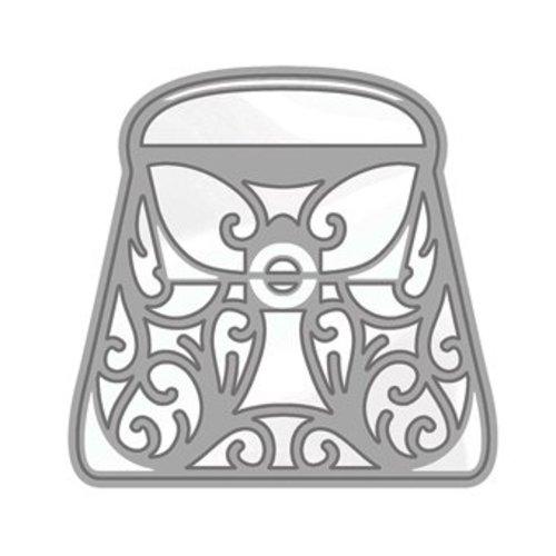 Tonic Studio´s Punching and embossing template: Rococo Stylish Handbag