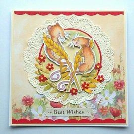 Wild Rose Studio`s Transparent stamps: 2 cute mice