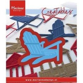 Marianne Design Troquelado y estampado en relieve plantilla: tumbona silla / playa