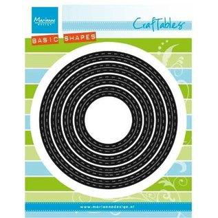 Marianne Design Troquelado y estampado en relieve plantilla: BÁSICO Passe partouts / círculos