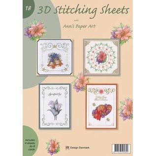 Bücher, Zeitschriften und CD / Magazines A4 book Stickvorlage for 8 cards