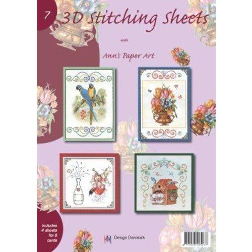 Bücher, Zeitschriften und CD / Magazines A4 boek Stickvorlage voor 8 kaarten