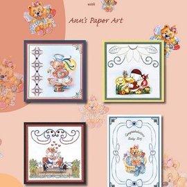 Bücher, Zeitschriften und CD / Magazines A4 bog Stickvorlage for 8 kort