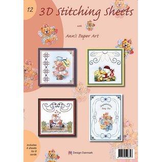 Bücher, Zeitschriften und CD / Magazines A4 Buch mit Stickvorlage für 8 Karten