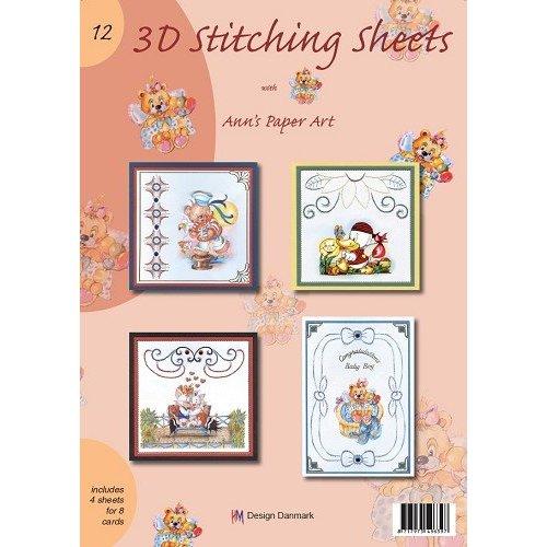 Bücher, Zeitschriften und CD / Magazines A4 livre Stickvorlage pour 8 cartes