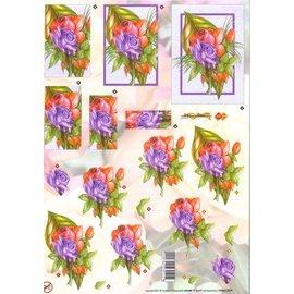 Bilder, 3D Bilder und ausgestanzte Teile usw... A4 vellen: Rosen