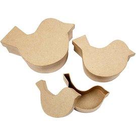 Objekten zum Dekorieren / objects for decorating 3 Schachteln in Vogelform