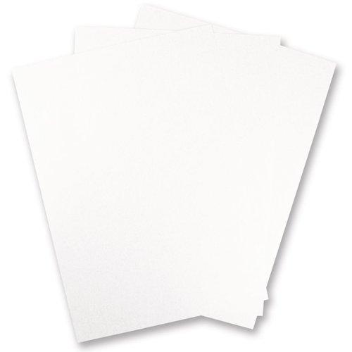 Karten und Scrapbooking Papier, Papier blöcke 5 ark Metallic pap, hvid