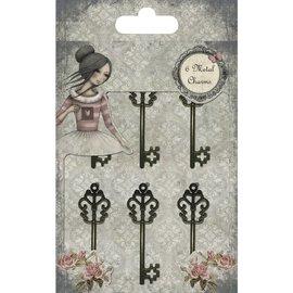 Embellishments / Verzierungen Dekorationer: key, Santoro Mirabelle