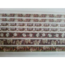 STICKER / AUTOCOLLANT Glitter Fabric Galons adhésif