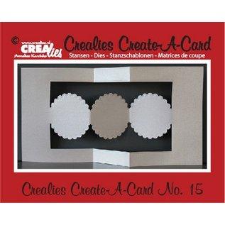 Stempel / Stamp: Transparent Crealies Maak Een Kaart no. 15 voor ponskaart