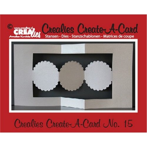Stempel / Stamp: Transparent Crealies Create A Card no. 15 for punch card