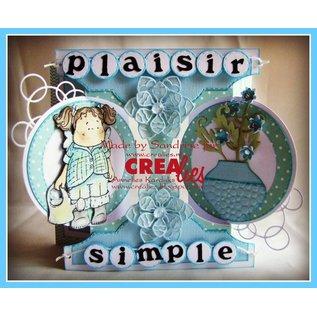 Stempel / Stamp: Transparent Crealies Create A Card no. 21 Stanz für Karte