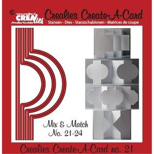 Stempel / Stamp: Transparent Crealies Maak Een Kaart no. 21 voor ponskaart