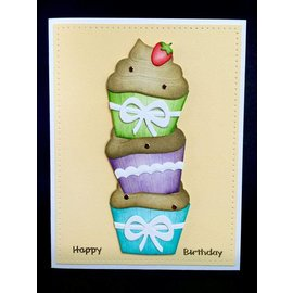 Elisabeth Craft Dies , By Lene, Lawn Fawn Punching template: Cupcakes