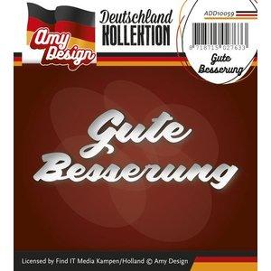 AMY DESIGN AMY DESIGN, Punching og prægning skabeloner: Tysk Tekst: Få det godt snart