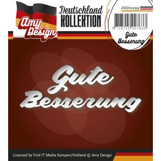 AMY DESIGN AMY DESIGN, Punching and embossing templates: German Text: Get well soon