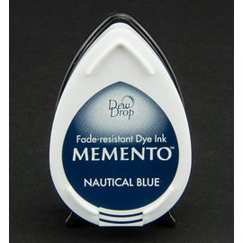 FARBE / STEMPELKISSEN las gotas de rocío MEMENTO sello InkPad-náutico de la tinta azul