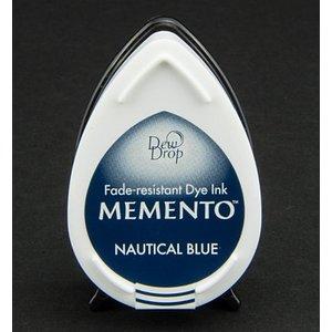 FARBE / STEMPELKISSEN dewdrops MEMENTO timbre encre InkPad-Bleu nautique