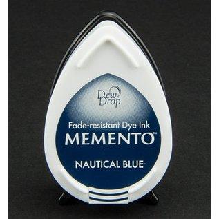 FARBE / STEMPELKISSEN MEMENTO dauwdruppels stempel inkt Inkpad-Nautical Blue