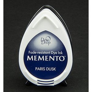 MEMENTO dauwdruppels stempel inkt Inkpad-Paris Dusk