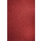 Karten und Scrapbooking Papier, Papier blöcke A4 craft carton: Glitter cardinal red