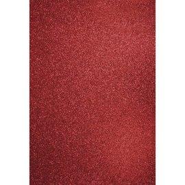 Karten und Scrapbooking Papier, Papier blöcke A4 håndværk karton: Glitter kardinal rød