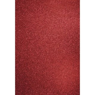 Karten und Scrapbooking Papier, Papier blöcke A4 ambacht doos: Glitter kardinaalrood
