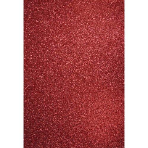 Karten und Scrapbooking Papier, Papier blöcke A4 artisanat carton: Glitter cardinal rouge