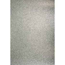 Karten und Scrapbooking Papier, Papier blöcke Adesivo di cartone A4: glitter argento