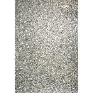 Karten und Scrapbooking Papier, Papier blöcke A4 kartonnen sticker: glitter zilver