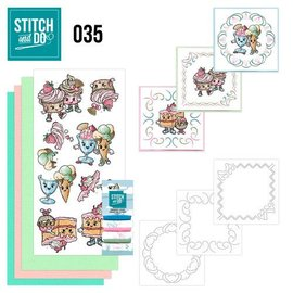 Komplett Sets / Kits Stitch og Do 35, Cupcakes